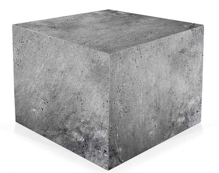вес куба бетона